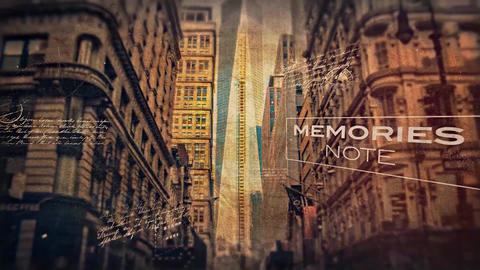 Memories Note After Effects Template