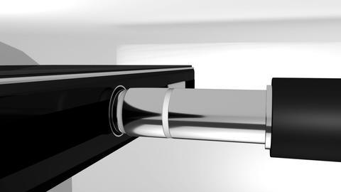 3.5 mm Jack Plug in Headphones Animation