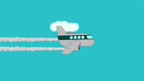 Airplane shape animation Animation