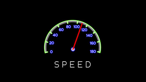 Speedometer glowing simple animation four variations Animation