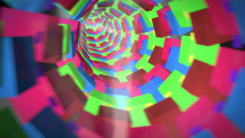 Go Fly Through The Tube Abstraction Animation