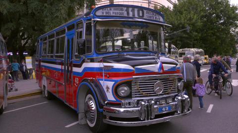 Key model of the 1980´s Argentinian Urban Bus public transportation Footage