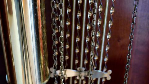 Chain pendulum clocks Stock Video Footage
