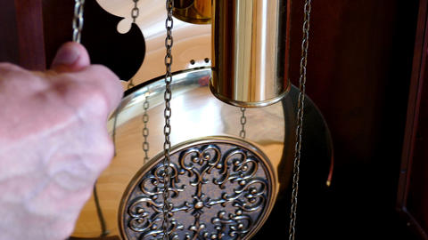 Pendulum clocks , hand Footage