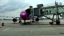 Bucharest Airport Romania Footage