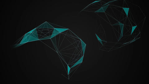 Rotation triangles background Animation