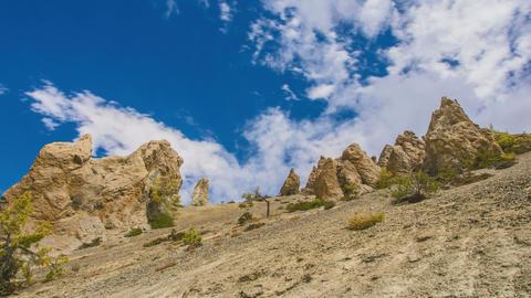Rocks and Sky Timelapse Footage