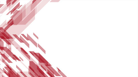Bright red tech geometric abstract video animation Animation