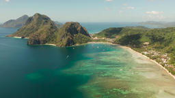 Las Cabanas Beach at El Nido at, Philippines Footage