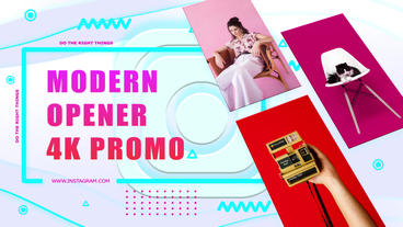 4K Modern Promo Opener After Effects Template