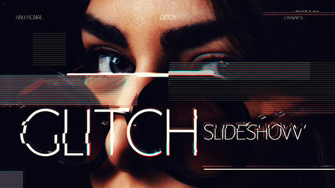 Glitch Slideshow After Effects Template