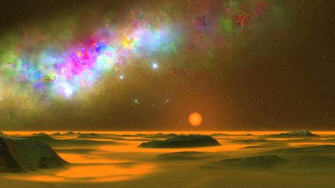 Beautiful Nebula and UFO GIF