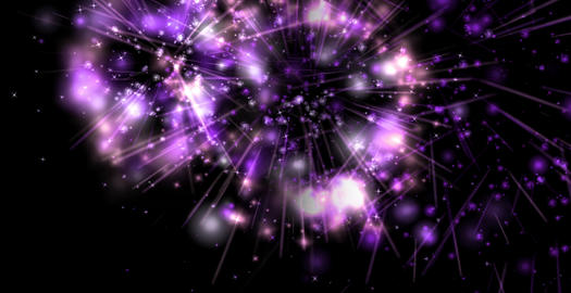 Fire work right to left purple Animation