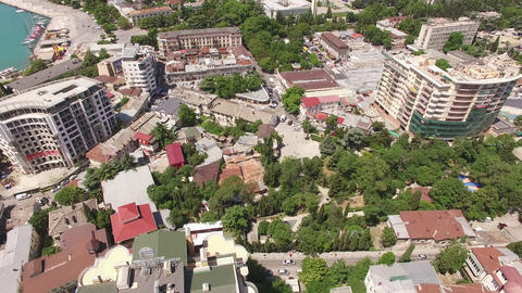 Aerial view of the urban landscape with a view of the buildings Footage