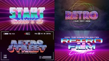 Retro Wave Logo Pack 3 After Effects Template