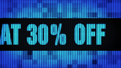 Flat 30% Percent Off Front Text Scrolling LED Wall Pannel Display Sign Board Footage