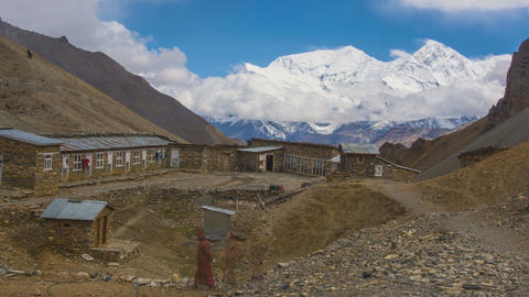 Annapurna Mountains View Footage
