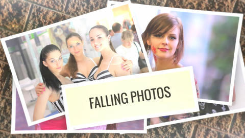 Falling Photos for After Effects After Effects Template