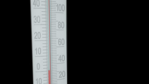 Thermometer animation on transparent CG動画素材