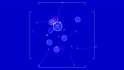 4k Circle wire dots,aviation navigation radar GPS tech panel scan analysis Live Action