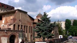 Bucharest City Ancient Ruins Footage