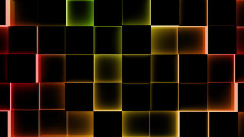 Illuminated Cubes Background-Seamless Loop Animation