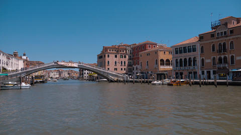 Grand Canal in the city of Venice Italy - Canale Grande Footage