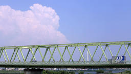 Tokyo of the bridge and the thunderhead Bridge and thunderhead/橋と入道雲 Footage