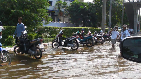 Thailand floods Footage