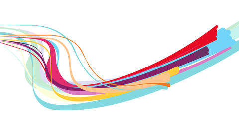 Colorful abstract streaks animation for titling ,intro or opener Plantilla de After Effects