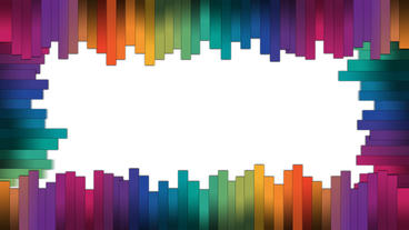 Colorful stripes forming a frame with popup animation for intro or opener After Effects Project