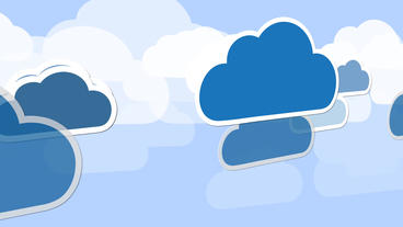 Moving clouds showing cloud traffic or network continuity process After Effects Projekt