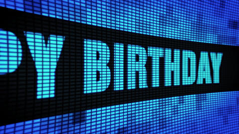 11th Happy Birthday Side Text Scrolling LED Wall Pannel Display Sign Board Live Action