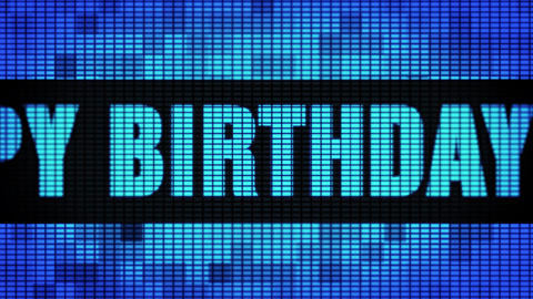 5th Happy Birthday Front Text Scrolling LED Wall Pannel Display Sign Board Live Action