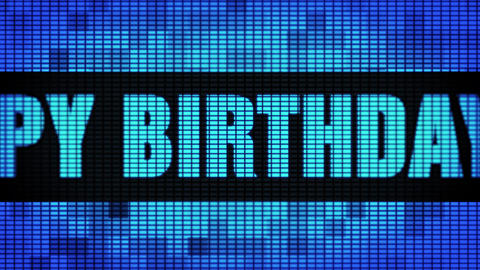 60th Happy Birthday Front Text Scrolling LED Wall Pannel Display Sign Board Live Action