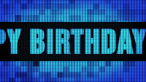 7th Happy Birthday Front Text Scrolling LED Wall Pannel Display Sign Board Live Action