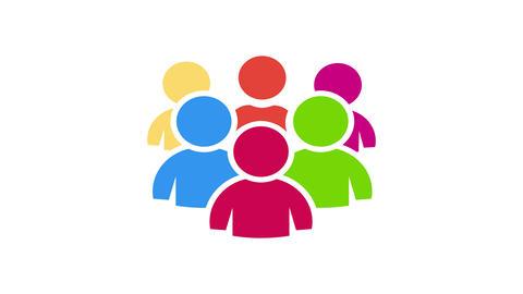 Teamwork people community. Video Animation Footage