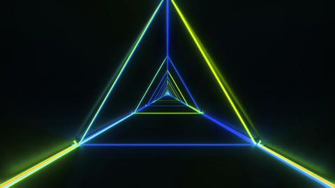 abstract stylish green blue wireframe triangle design with nice reflections Animation