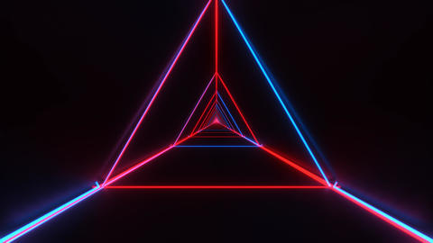 abstract stylish red blue wireframe triangle design with nice reflections Animation