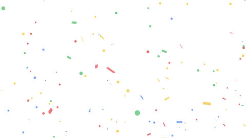 Colorful confetti party popper explosions on green backgrounds Footage