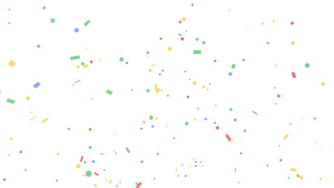 Colorful confetti party popper explosions on white backgrounds Live Action