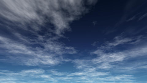 The sky which I expressed with a fisheye lens Animation