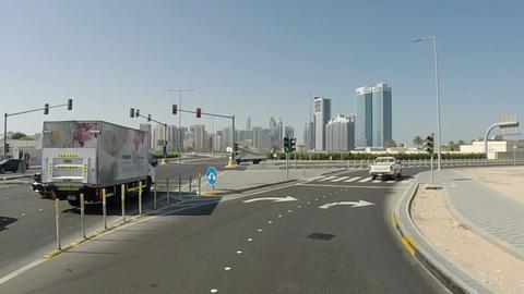 Driving On Highway, Abu Dhabi, UAE Footage