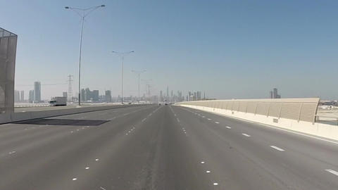Driving On Highway, Abu Dhabi, UAE Footage