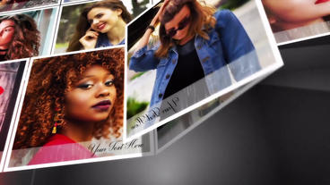 Folding Photo Slide show After Effects Template