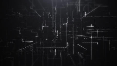Digital Abstract Binary Code Background Live Action