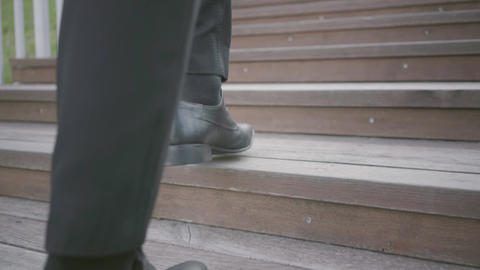 Legs of a stylish well-dressed businessman in expensive…, Live Action