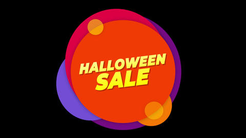 Halloween Sale Text Sticker Colorful Sale Popup Animation Live Action