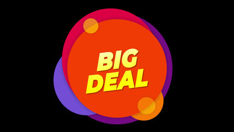 Big Deal Text Sticker Colorful Sale Popup Animation Live Action
