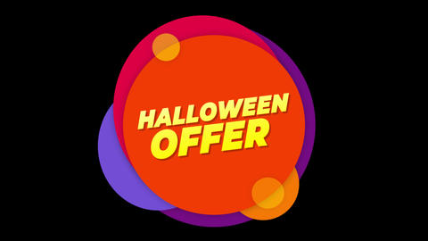 Halloween Offer Text Sticker Colorful Sale Popup Animation Live Action